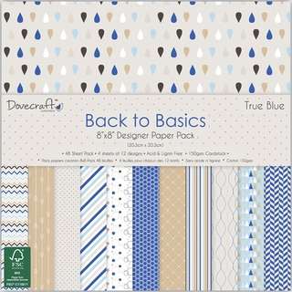 Trimcraft Paper Pad 8inX8in 48/Pkg Back To Basics True Blue