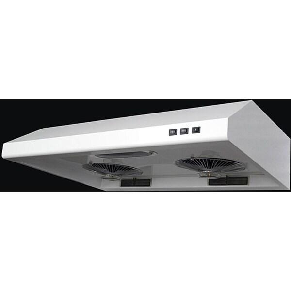 White 30-inch Under-cabinet Range Hood