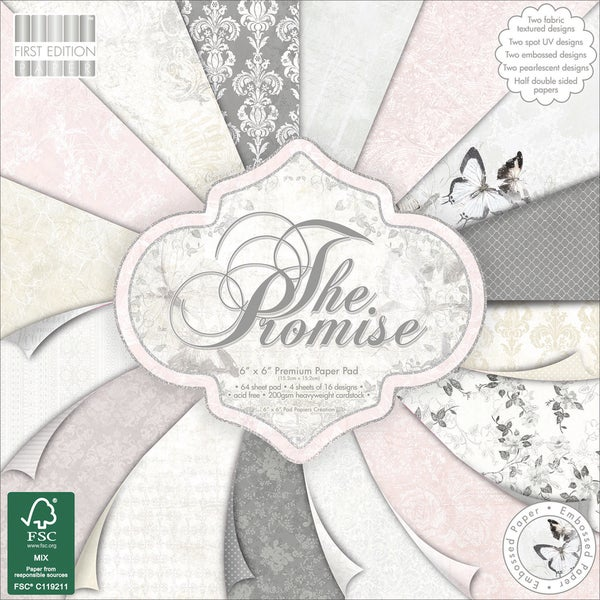 First Edition Premium Paper Pad 6inX6in 64/Pkg The Promise
