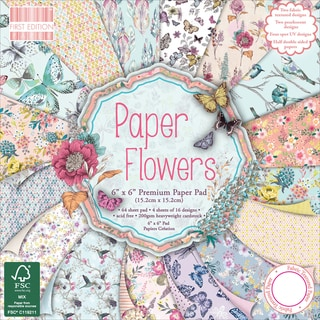 First Edition Premium Paper Pad 6inX6in 64/Pkg Paper Flowers