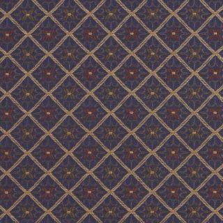 E656 Diamond Navy Blue Yellow Green Damask Upholstery Drapery Fabric By The Yard