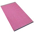 Jumbo Stripe Velour Beach Towel - 5 colors available