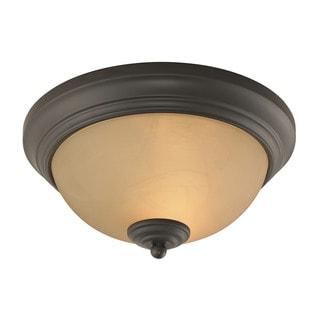 Cornerstone 11-inch Oil Rubbed Bronze Huntington 2-light Ceiling Lamp
