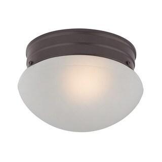Cornerstone 7.5-inch Oil Rubbed Bronze 1-light Mushroom Flush mount