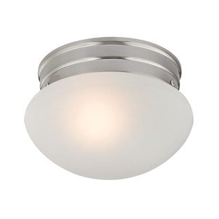 Cornerstone 7.5-inch Brushed Nickel 1-light Mushroom Flush mount