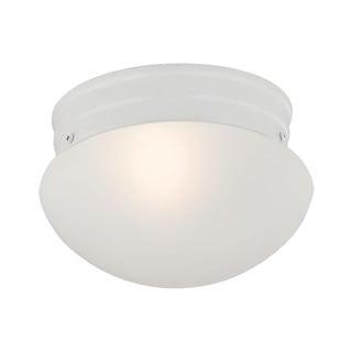 Cornerstone 7.5-inch White 1-light Mushroom Flush mount