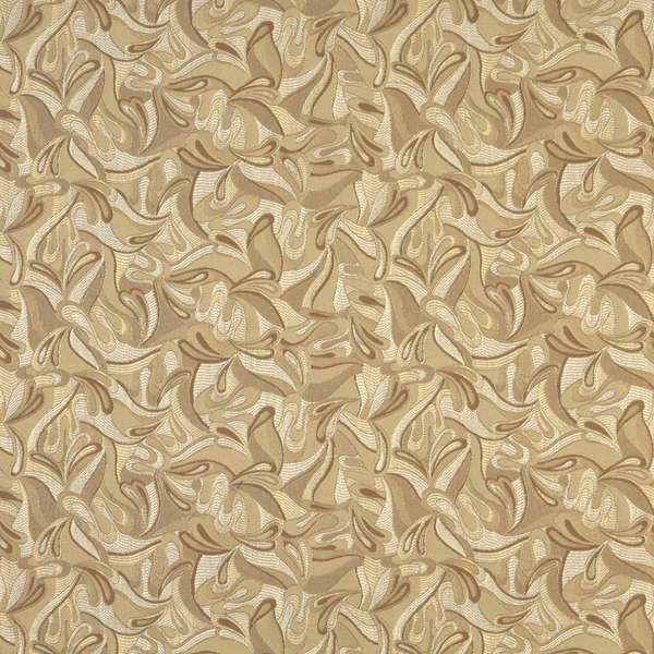 F340 Gold Brown And Ivory Abstract Jacquard Upholstery Grade Fabric By The Yard