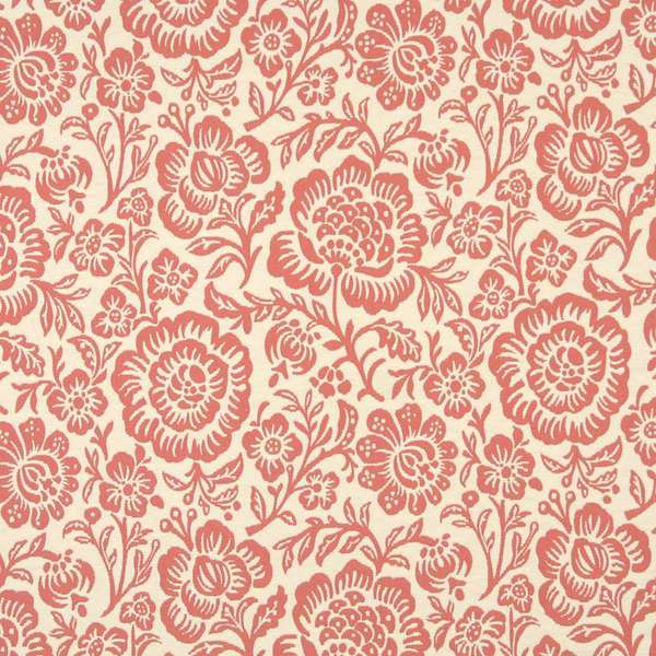 F403 Coral Pink Beige Floral Matelasse Reversible Upholstery Fabric By The Yard