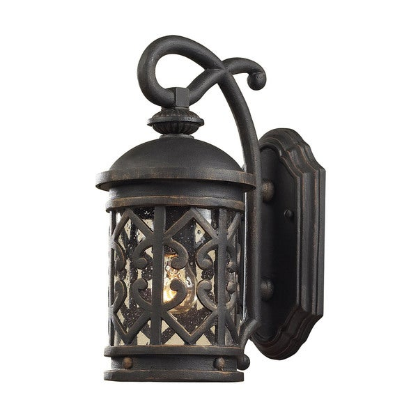 Cornerstone 7-inch Weathered Charcoal Tuscany Coast 1-light Exterior Wall Mount