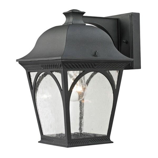 Cornerstone 7.5-inch Matte Textured Black Cape Ann 1-light Outdoor Coach Lantern