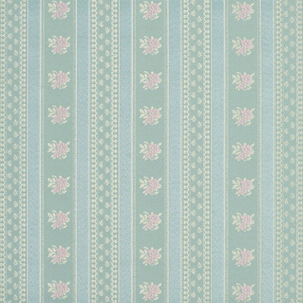 D124 Gold Pink And Blue Floral Striped Brocade Upholstery Fabric By The Yard