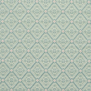 D140 Gold Pink And Blue Diamond Brocade Upholstery Fabric