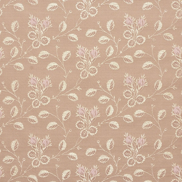 D142 Gold And Pink Floral Brocade Upholstery Fabric By The Yard