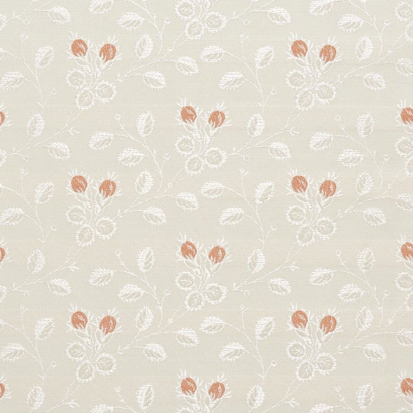 D143 Silver White And Mahogany Red Floral Brocade Upholstery Fabric By The Yard