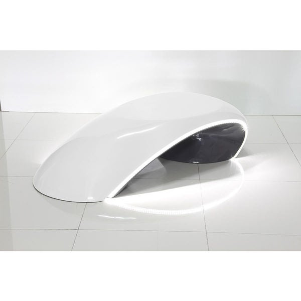Modrest Shift-a-two-tone Contemporary White Led High Gloss Coffee Table