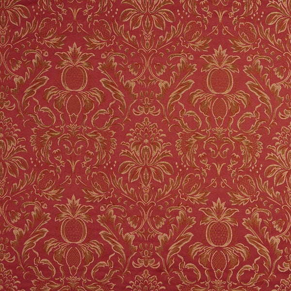 F550 Gold Purple Green Pineapple Damask Upholstery Drapery Fabric By The Yard