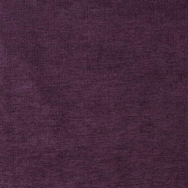 D218 Purple, Thin Striped Durable Woven Velvet Upholstery Fabric By The Yard