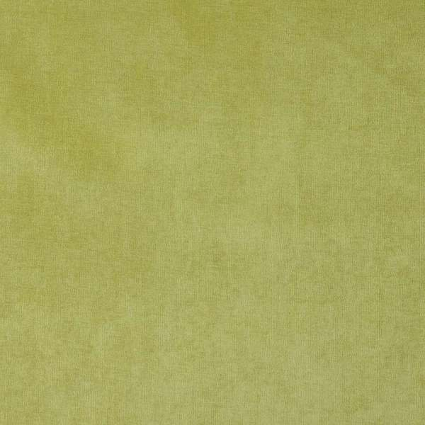 D229 Lime Green, Solid Durable Woven Velvet Upholstery Fabric By The Yard