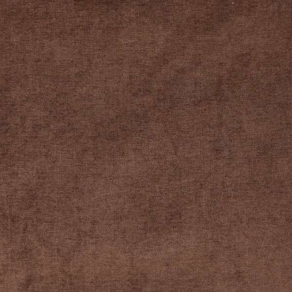 D239 Chocolate Brown, Solid Woven Velvet Upholstery Fabric By The Yard