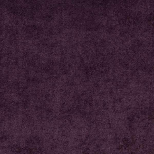 D240 Purple, Solid Durable Woven Velvet Upholstery Fabric By The Yard