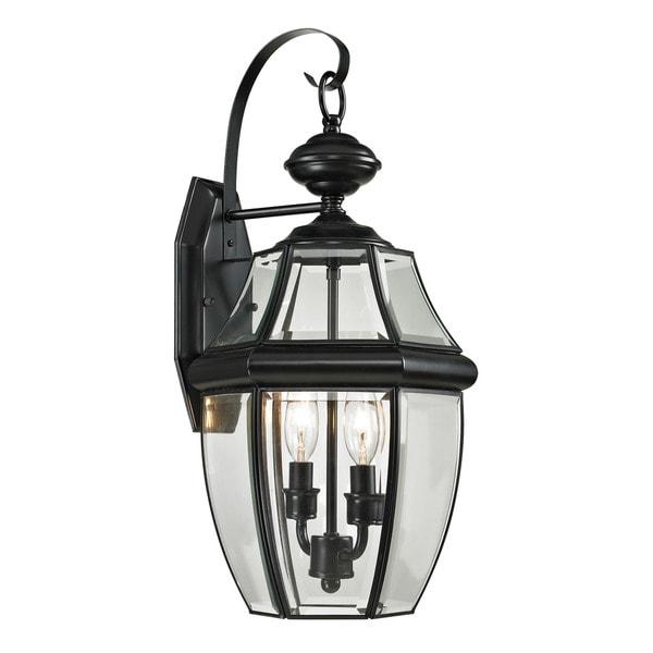 Cornerstone 10-inch Black Ashford 2-light Exterior Coach Lantern