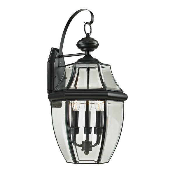 Cornerstone 13-inch Black Ashford 3-light Exterior Coach Lantern