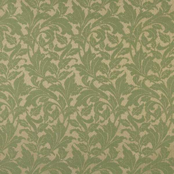 F602 Dk Green Floral Leaf Outdoor Indoor Marine Scotchgarded Fabric By The Yard