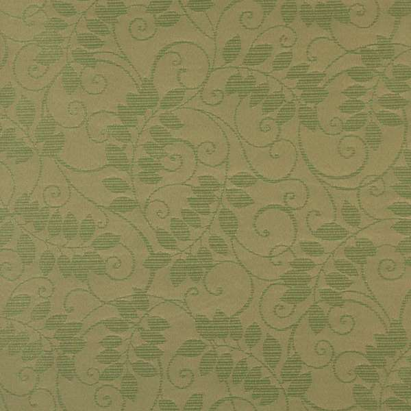F626 Dk Green Floral Vine Outdoor Indoor Marine Scotchgarded Fabric By The Yard