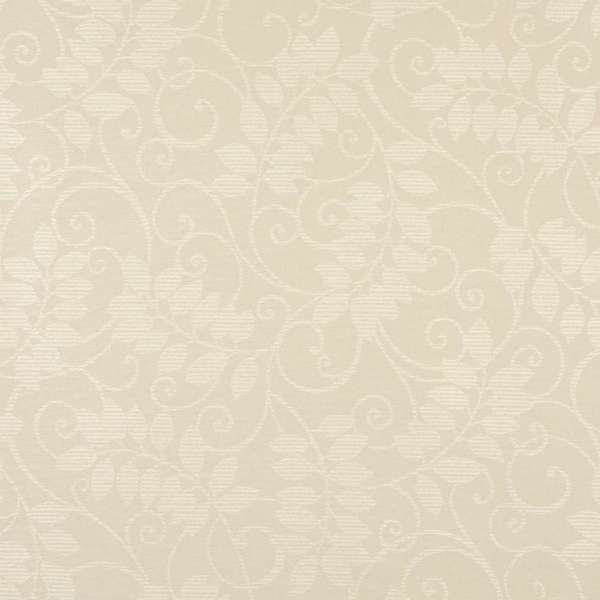 F629 Ivory Floral Vine Outdoor Indoor Marine Scotchgarded Fabric By The Yard