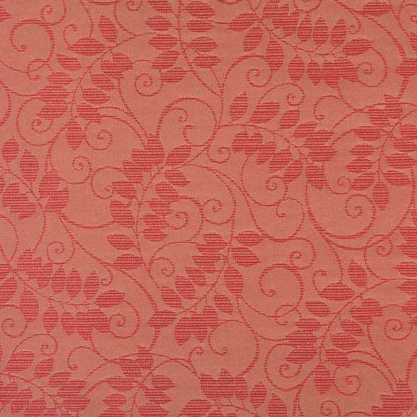 F630 Red Floral Vine Outdoor Indoor Marine Scotchgarded Fabric By The Yard