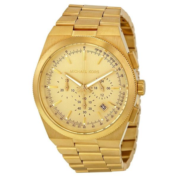 Michael Kors Men's MK8404 Channing Round Gold-Plated Bracelet Watch