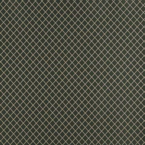 Dark Green and Beige Diamond Jacquard Woven Upholstery Fabric (By The Yard)