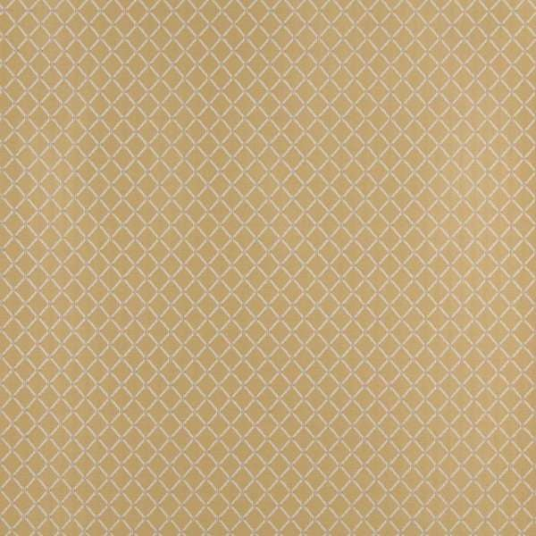 D336 Gold and Off White Diamond Woven Jacquard Upholstery Fabric (By The Yard)