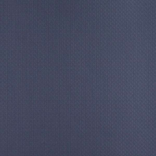 D345 Blue Basket Weave Woven Jacquard Upholstery Fabric (By The Yard)