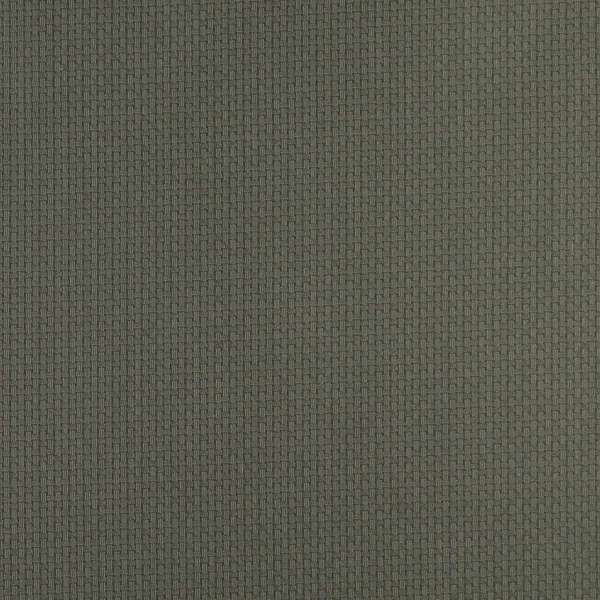 D348 Dark Green Beige Basket Weave Woven Jacquard Upholstery Fabric (By The Yard)