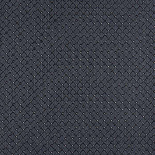 D360 Navy Blue and Gold Shell Woven Jacquard Upholstery Fabric (By The Yard)