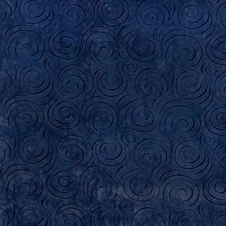 D830 Dark Blue Abstract Swirl Microfiber Upholstery Fabric (By The Yard)