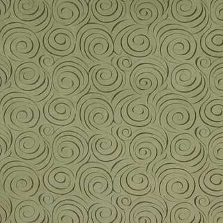 D833 Light Green Abstract Swirl Microfiber Upholstery Fabric