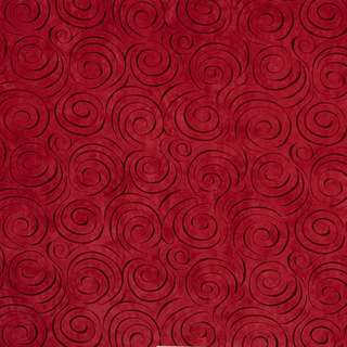 D834 Red Abstract Swirl Stain Resistant Microfiber Upholstery Fabric (By The Yard)