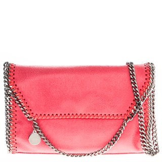 Stella McCartney Falabella Pearlescent Faux Leather Fold-over Clutch