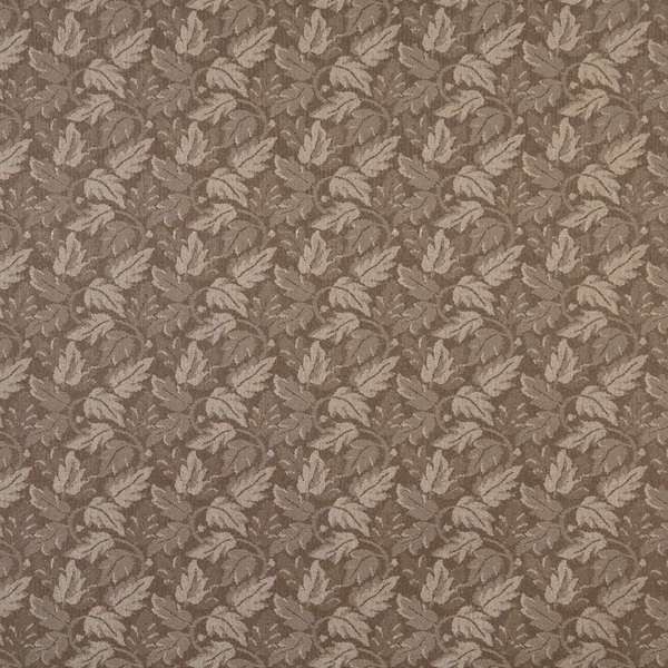F704 Brown Leaf Floral Heavy Duty Stain Resistant Crypton Fabric By The Yard