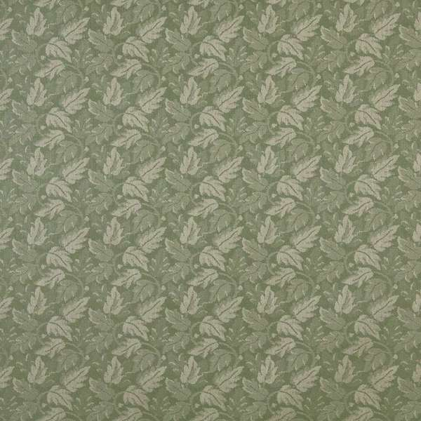F709 Lime Green Leaf Floral Durable Stain Resistant Crypton Fabric By The Yard