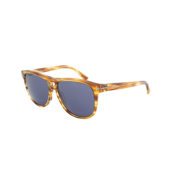 Tom Ford FT0288 47V Lennon Wayfarer Sunglasses - Tortoise Frame and Smooth Blue Lens