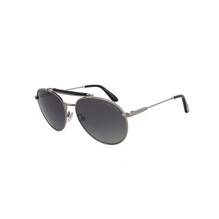 Tom Ford FT0338 14D Colin Polarized Sunglasses - Silver Frame and Grey Gradient Lens