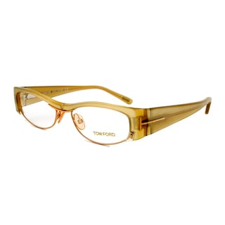 Tom Ford FT5076 467 Yellow Green Eyeglass Frames - Size 53