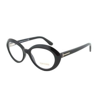 Tom Ford FT5251 001 Black Oval Eyeglass Frames - Size 51