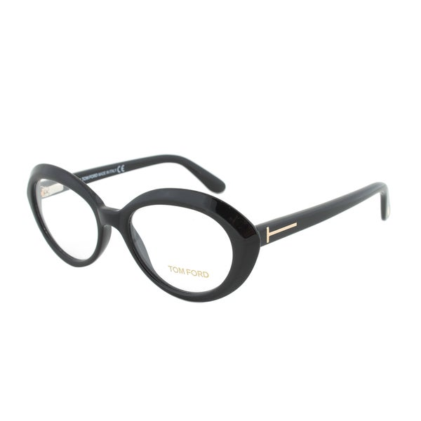 Eyeglass Frame Size 51 : Tom Ford FT5251 001 Black Oval Eyeglass Frames - Size 51 ...