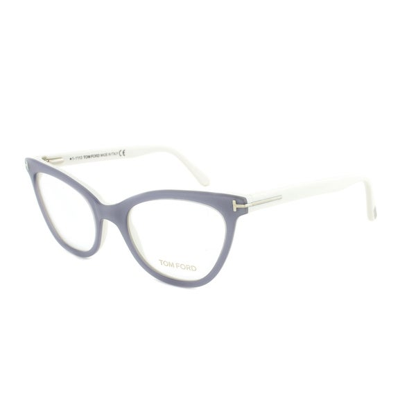 Eyeglass Frame Size 51 : Tom Ford FT5271 020 Silver Grey Cateye Eyeglass Frames ...