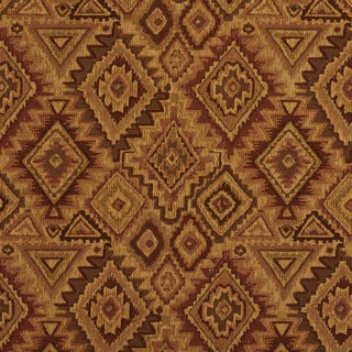 E100 Southwestern Navajo Lodge Style Upholstery Grade Fabric (By The Yard)
