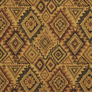 E101 Southwestern Navajo Lodge Style Upholstery Grade Fabric (By The Yard)